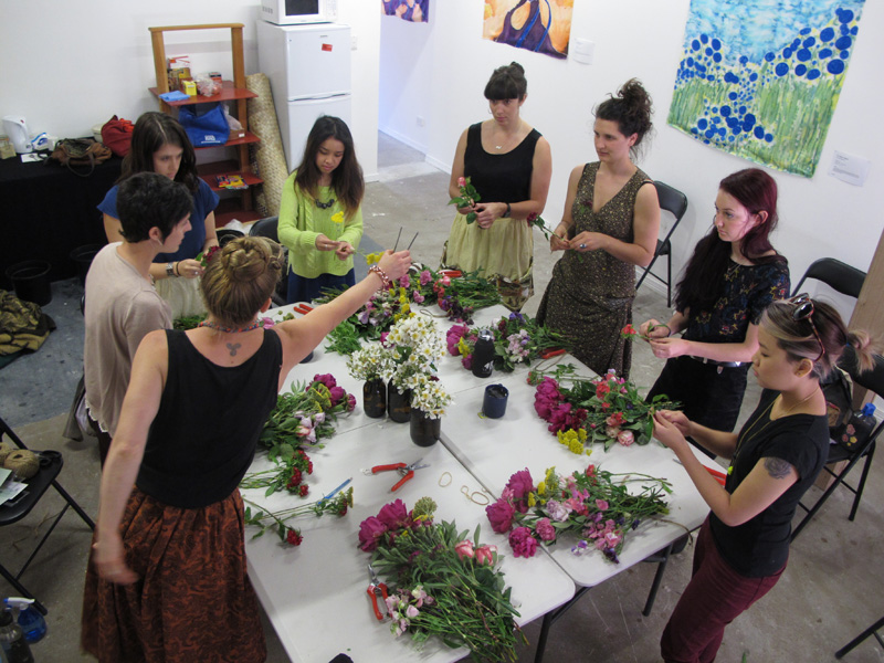 Posy Workshop with North St Flowers. December 2012 at Colour Box Studio, Footscray.