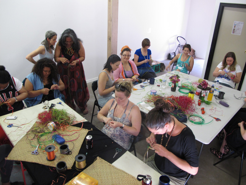Pacific Wrap Workshop with Kui Taukilo and Grace Vanilau. December 2012. Colour Box Studio, Footscray Melbourne. Creative Art Classes.