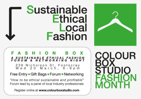 Join the conversation @ Fashion Box event 20 March