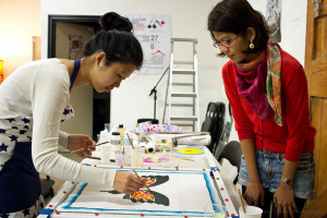 Introduction to Silk Painting Workshop @ Colour Box Studio | Footscray | Victoria | Australia