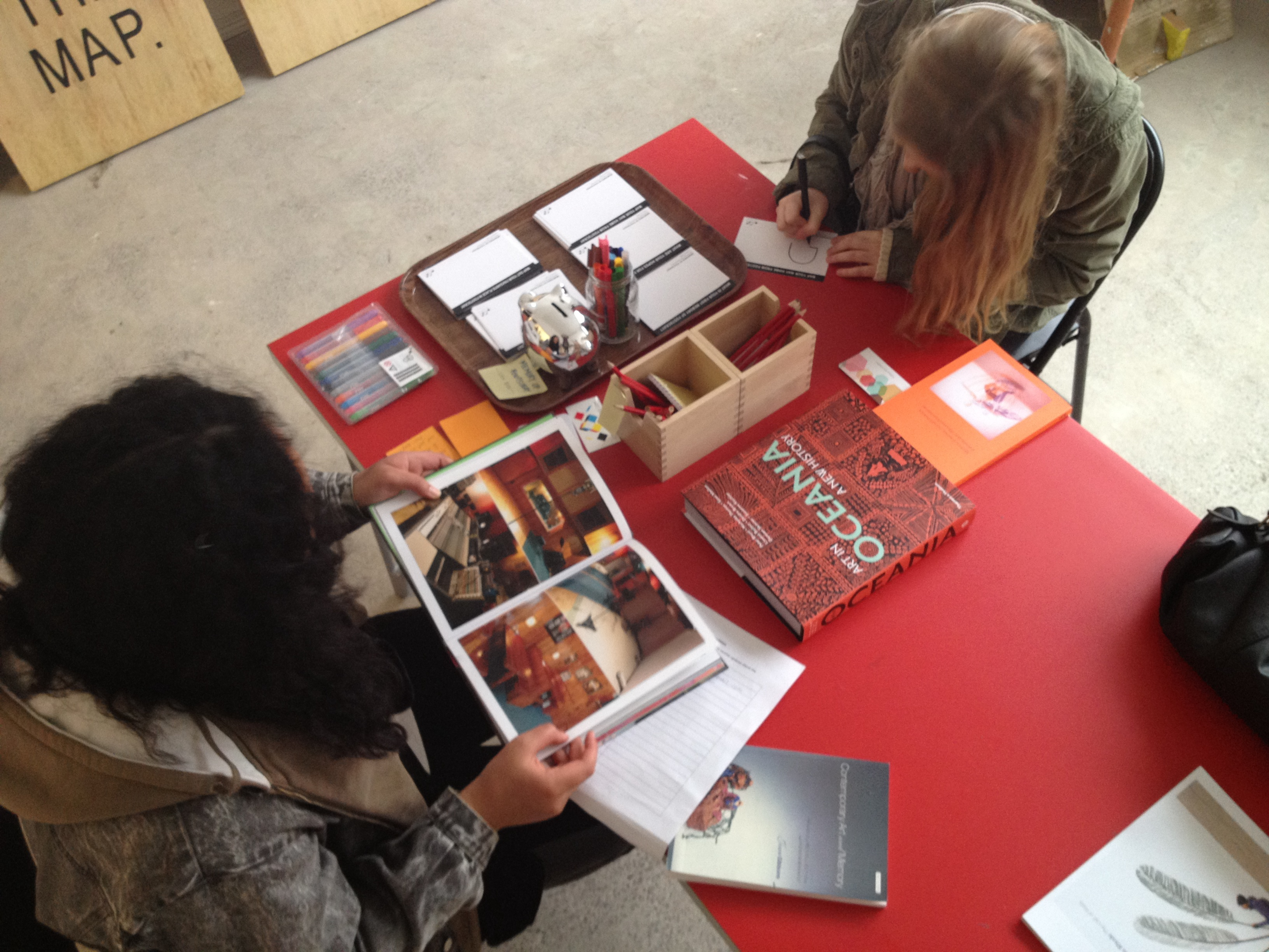 Memories of Footscray Postcard exchange and the Community Reading Room at Colour Box Studio
