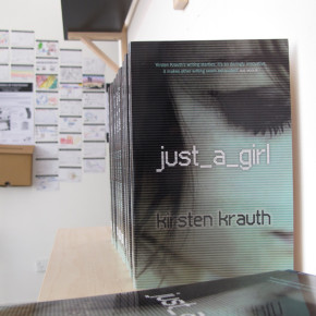 just_a_girl by Kirsten Krauth - available in the Colour Box Studio Pop Up Book Shop until 31 August 2013