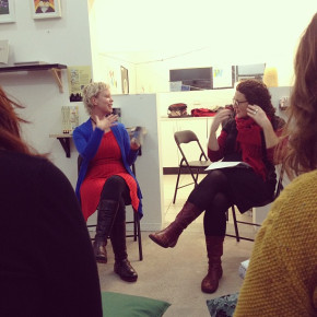 Kirsten Krauth and Angela Savage book reading and Interview at Colour Box Studio, Footscray Melbourne 3 July 2013