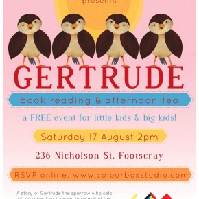 Gertrude Book Reading & Afternoon Tea A4