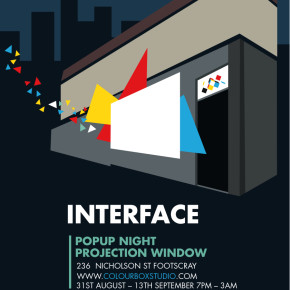 Interface Night Projections at Colour Box Studio