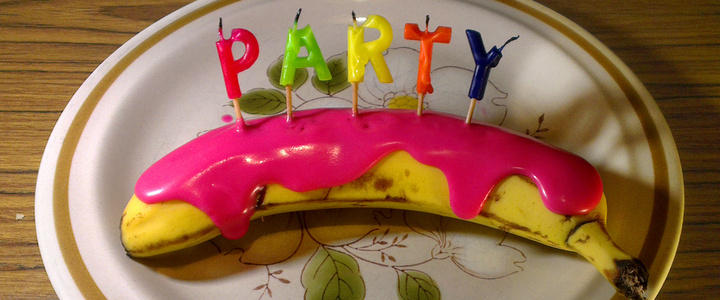 Party Banana – It's my party and I'll throw up if I want to!