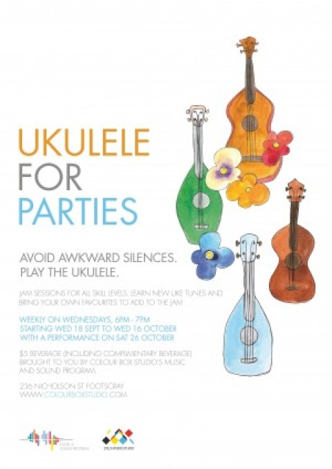 Ukulele for Parties – A Uke Jam for all Skill Levels hosted by Morgan Brady