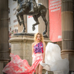 5 scarves and shawls worn as a dress; Price range from $80 - $550 by Studio 941. Photo Credit: Cliq Photography.