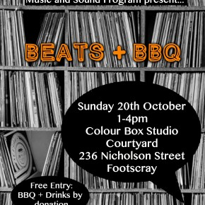 Beats + BBQ as part of Colour Box Studio's Music and Sound Program
