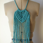 Macrame Necklace $65 by Kirri-maDe available at the Colour Box Studio Summer Pop Up Shop