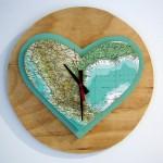 One Sunday Morning Mexi-heart Double Heart Wall Clock. RRP $125