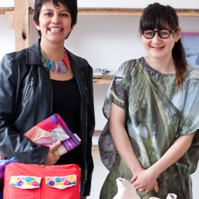 Paty Galán of Deer & Pato and Annabelle of Paradise Structures: Colour Box Studio Summer Pop Up Shop, November 2013. Photo by Kristina Arnott.