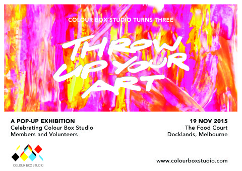 Colour Box Studio Turns 3: Throw Up Your Art!!!
